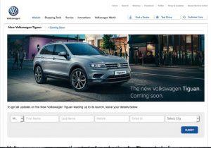 Volkswagen Tiguan officially updated in website